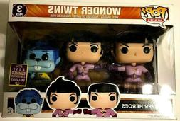 NEW Funko Pop! Heroes DC Wonder Twins 3 Pack 2017 Summer Con