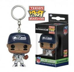 NFL Russell Wilson Pocket Pop! Vinyl Keychain by Funko