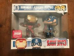 NIB Funko Pop Marvel Civil War Captain America Iron Man 2 Pa