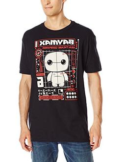 Funko Men's Pop! T-Shirts Big Hero 6 - Baymax Tech, Black, M