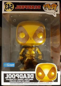 "Funko Pop! 10"" Inch Gold Deadpool 543 Black Friday Walmart L"