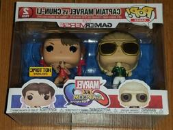 Funko Pop 2-Pack Captain Marvel vs Chun-Li Marvel v Capcom H