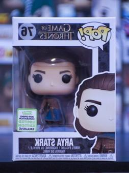 Funko Pop Arya Stark #76 Game of Thrones ECCC Shared Exclusi