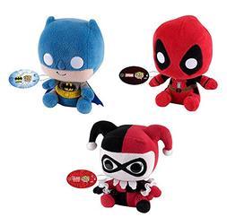 Funko POP: Batman, Harley Quinn & Deadpool Gift Set of 3 Plu