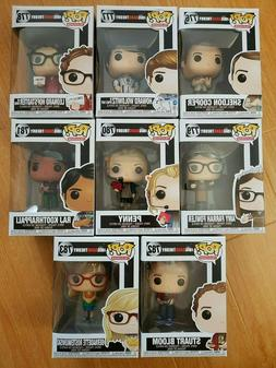 Funko Pop! Big Bang Theory - Set of 8! Sheldon #776, Howard