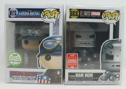 Funko Pop Captain America  ECCC 2017 and IRON MAN  mint