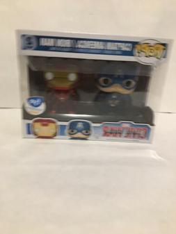 Funko Pop Captain America / Iron Man 2-Pack FYE Exclusive Ma