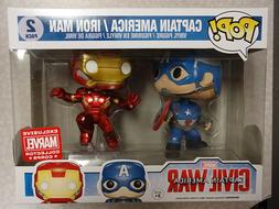Funko Pop! Captain America Iron Man  2-Pack Marvel Collector