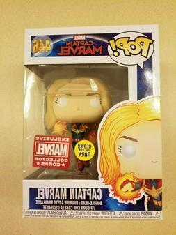 Funko Pop! Captain Marvel Flying GITD #446 Collector Corps E