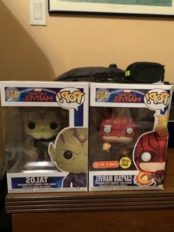 Funko Pop! Captain Marvel GITD Target & Talos Bundle