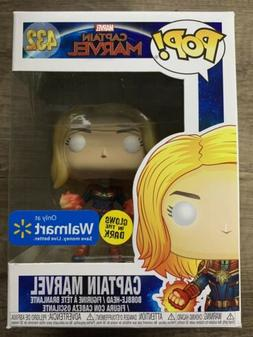 FUNKO POP Captain Marvel GITD WALMART EXCLUSIVE in hand FREE