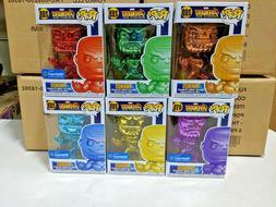 Funko Pop Chrome Thanos Walmart Set all 6