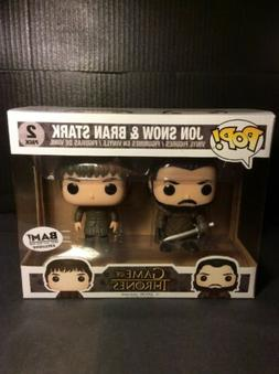 Funko Pop! Game Of Thrones 2 Pack Jon Snow & Bran Stark BAM