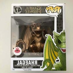 "Funko Pop Game of Thrones GOT  Rhaegal 6"" inches Gold Custom"