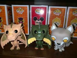 Funko Pop! Game of Thrones Grey Wind, Viserion, Rhaegal NO B