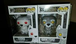 Funko Pop! Game of Thrones Grey Wind and Ghost Wolf 7-11 EXC