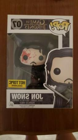 Funko Pop! Game of Thrones Jon Snow 07 Bloody Hot Topic Excl