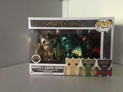 Funko Pop! Game of Thrones Metallic 3-Pack Dragons Drogon Rh