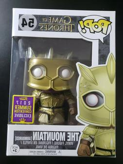 Funko Pop Game Of Thrones The Mountain Armoured #54 SDCC 201