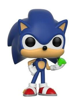 Funko Pop! Games: Sonic - Sonic with Emerald - Bundled w POP
