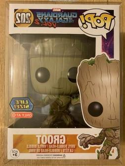 FUNKO POP GROOT 10 INCH LIFE SIZE MARVEL EXCLUSIVE WITH POP