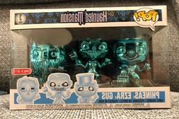 FUNKO POP HAUNTED MANSION Ghosts Chrome 3 Pack Phineas Ezra