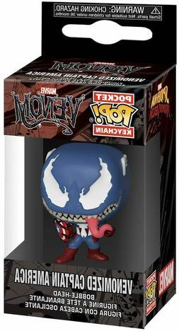 Funko Pop! Keychain: Marvel Venom - Captain America Vinyl Fi