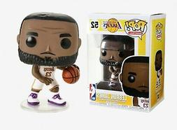 Pop LA Lakers LeBron James White/Purple Vinyl Figure