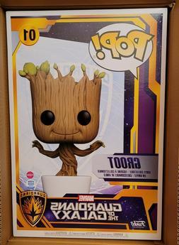 "Funko Pop Marvel 18"" Dancing Groot Flocked LE 1500 IN HAND"