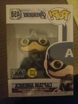 Funko Pop Marvel Avengers Endgame CAPTAIN AMERICA GLOW IN DA