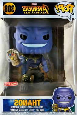 "Funko Pop Marvel Avengers Infinity War #308 Thanos 10"" Inc"
