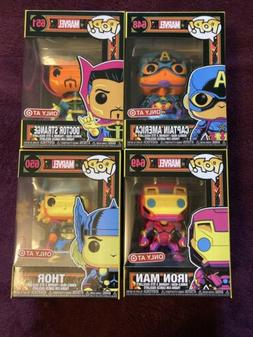 Funko Pop! Marvel BLACK LIGHT Complete SET of 4 Target Exclu