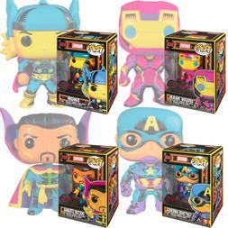 Funko POP! Marvel - Black Light Iron Man Captain America Tho