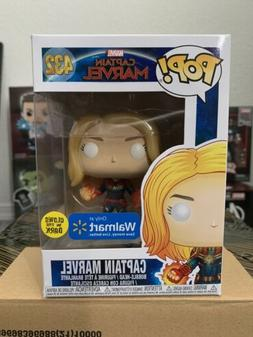 pop marvel captain marvel walmart exclusive glow