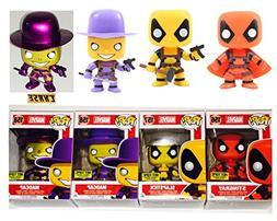 Funko POP! Marvel Deadpool Stingray , Slapstick , Madcap and