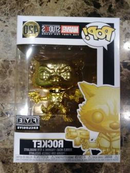 Funko Pop! Marvel  - GOLD CHROME ROCKET RACCOON #420 FYE EXC
