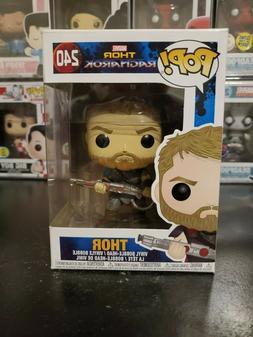 Funko Pop! Marvel Thor Ragnarok Thor #240 Vinyl Bobblehead W