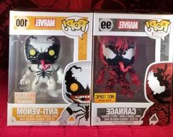 Funko Pop Marvel Venom Set - CARNAGE #99 & ANTI-VENOM #100