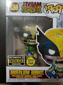 pop marvel zombies wolverine gitd vinyl figure