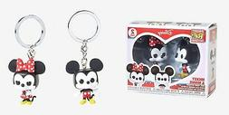 Pop Mickey Mouse & Minnie Mouse Keychains Gift Set
