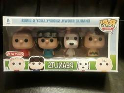 Funko Pop mini's peanuts Charlie Brown Snoopy Lucy Linus 4 p