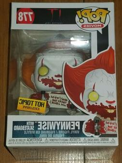 Funko Pop Movies #778 Pennywise with Skateboard It Chapter T