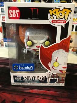 FUNKO POP MOVIES #782 PENNYWISE WITH BLADE WALMART EXCLUSIVE