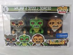 Funko Pop! Rampage 3 Pack George Lizzie & Ralph 8 Bit Walmar