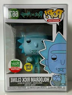 Funko Pop Rick and Morty Hologram GITD Rick Clone #667 Cyber