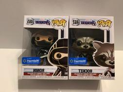 Funko POP! Rocket And Ronin WALMART exclusives Avengers Endg