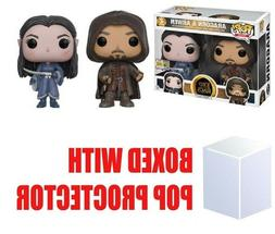 Funko POP SDCC 2017 Lord of the Rings Aragorn and Arwen Excl