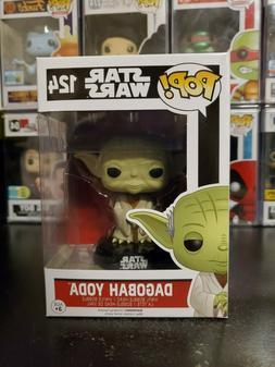 Funko Pop! Star Wars Dagobah Yoda #124 Vinyl Bobblehead WITH