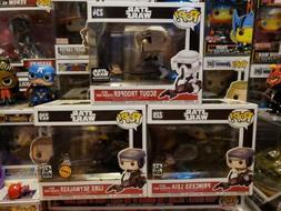 Funko Pop! Star Wars Scout Trooper 234, Luke 229 & Leia 228