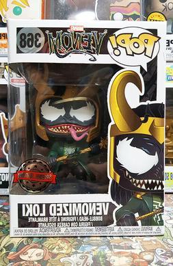 Funko Pop Venomized Loki #368 Special Edition Mint w/ .5mm S